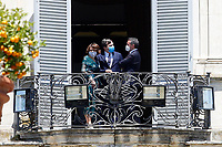 Minister of the Family Elena Bonetti and Minister of European Affairs Vincenzo Amendola at the balcony of Villa Pamphilj, where the Italian Premier convened the States General of Economy. The summit was strictly behind closed doors and the press was kept outside. Rome (Italy), June 13th 2020<br /> Samantha Zucchi Insidefoto
