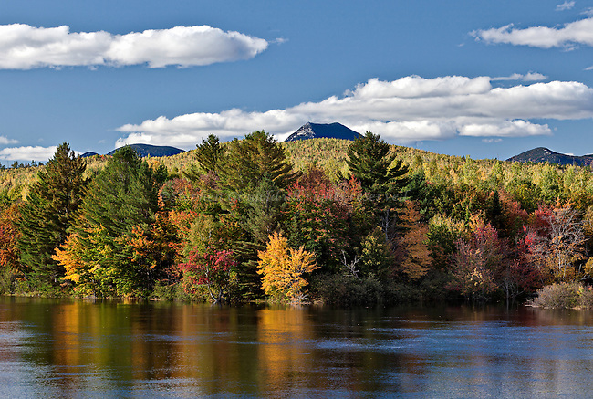 Doubletop Mountain from Abol Bridge along the Golden Road in Northern Maine.