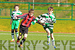 Darragh Fleming Killarney Celtic and David Twomey Mastergeeha tussle for possession during their u12 league game in Killarney on Saturday