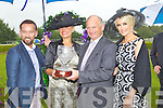 Brendan Courtney, Lora Beth Malloy from Oklahoma, Gerard Coughlan, Dawn Daries, and Lisa Fitzpatrick at Killarney races ladies day on Thursday.