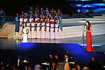 Egyptians perform during the inauguration ceremony of the new Suez Canal, in Ismailia, Egypt 07 August 2015. The latest addition to the canal comes in at 35 kilometers of new canal and the widening of a further 37 kilometers of old canal, was completed in under a year, with an estimated cost of 8.5 billion US dollars once additional projects are completed, and was opened to shipping 06 August. According to the Egyptian Government, the additional chanel cuts journey times from an estimated 18-14 hours to 11 hours, making it the fastest shipping lane of its kind worldwide, and will double revenue by 2023, though their figures have been widely disputed by international economists. Egyptian President Office