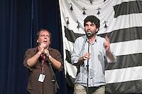 Deux chanteurs au repertoire gallo.Fest-Noz d'Antonio