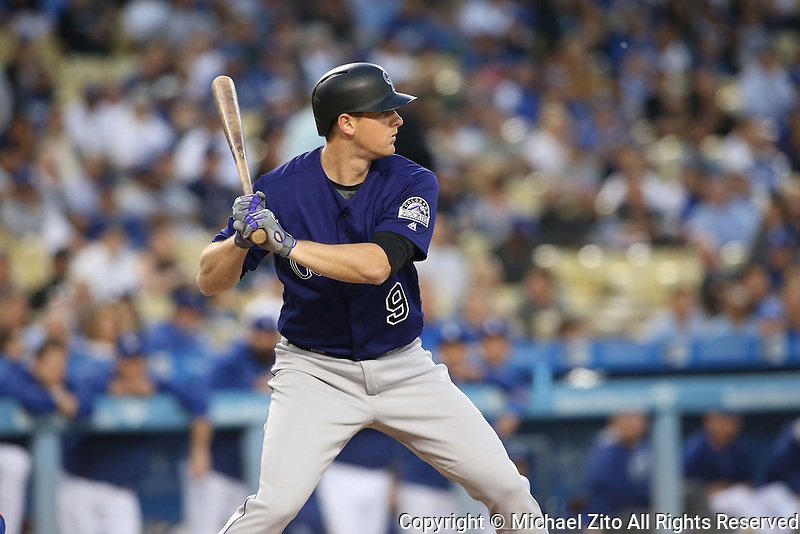 June 7, 2016, Los Angeles, CA: Colorado Rockies second baseman DJ LeMahieu #9during a MLB game played at Dodger Stadium between the colorado Rockies and Los Angeles Dodgers