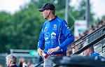 AMSTELVEEN -Kampong coach Tim Oudenaller. Kampong JB1-Bloemendaal JB1.  BLOEMENDAAL JB1 wint de titel Jongens  B. (3-3) na shoot outs. finales A en B jeugd  Nederlands Kampioenschap.  COPYRIGHT KOEN SUYK