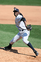 April 26, 2009:  Relief Pitcher Jose Valdez (41) of the Scranton Wilkes-Barre Yankees, International League Class-AAA affiliate of the New York Yankees, during a game at the Frontier Field in Rochester, NY.  Photo by:  Mike Janes/Four Seam Images