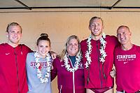 Stanford, California - November 16, 2019:<br /> Stanford Men's Water Polo v UCLA at the Avery Aquatic Center. Senior Day. Stanford won 17-11.