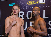6th October 2017, Radisson Edwardian Hotel,  Manchester, England; Anthony Crolla versus Ricky Burns Weigh-in and Press Conference;  Hosea Burton and Saidou Sall after their successful pre-fight weigh-in