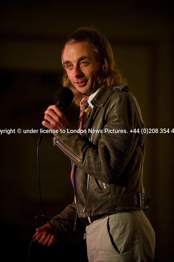 © licensed to London News Pictures. Harrogate, UK. 14/09/2011. Sitting Room Comedy, St George Hotel, Harrogate - Paul Foot, Carly Smallman and Tony Burgess. Picture shows Paul Foot. Photo credit: Jane Hobson/London News Pictures