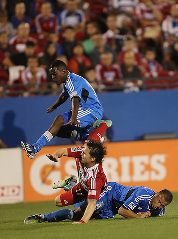 FRISCO, TX: Zach Loyd in action against the San Jose Earthquakes at FC Dallas Stadium in Frisco, Texas on May 25,2013 (Photo Rick Yeatts)