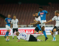 2\41\ during the  italian serie a soccer match,between SSC Napoli and Atalanta      at  the San  Paolo   stadium in Naples  Italy , August 27, 2017