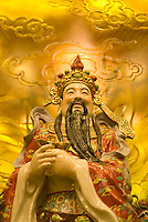 THIS IMAGE IS AVAILABLE EXCLUSIVELY FROM GETTY IMAGES.....Please search for image # 200535114-001 on www.gettyimages.com....Chinese Statue, close-up, low angle view, Chinatown, New York City, New York State, USA