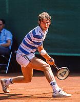 Jul 12, 1983, Hilversum, Netherlands, Dutch Open, Melkhuisje, Roland Stadler (SUI)<br /> Photo: Tennisimages/Henk Koster