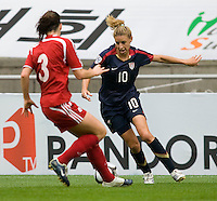 Aly Wagner, Emily Zurrer.  The USWNT defeated Canada, 1-0, at Suwon World Cup Stadium in Suwon, South Korea, to win the Peace Queen Cup.