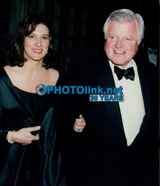 Ted Kennedy and wife 1993<br /> Photo By John Barrett-PHOTOlink.net