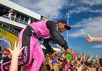 Oct 18, 2015; Ennis, TX, USA; NHRA top fuel driver Antron Brown during the Fall Nationals at Texas Motorplex. Mandatory Credit: Mark J. Rebilas-USA TODAY Sports