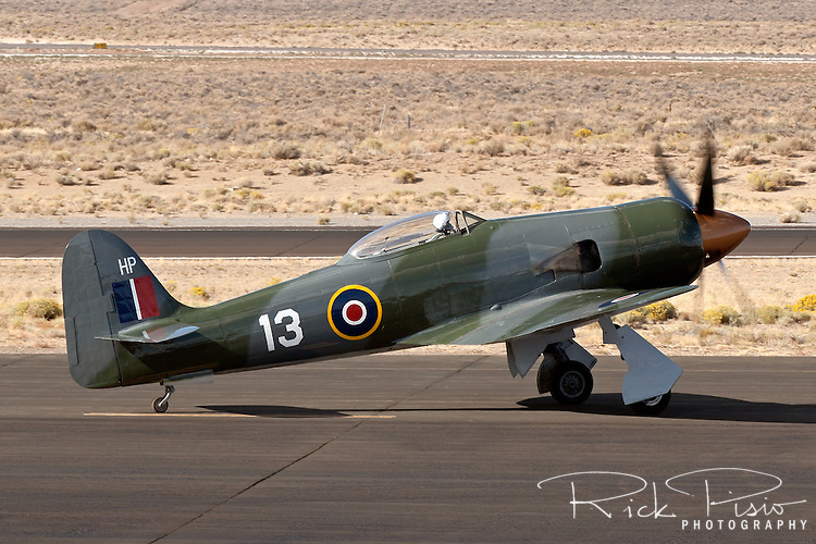 Howard Pardue owned Hawker Sea Fury 'Fury' taxies on the ramp at the Reno National Championship Air Races.