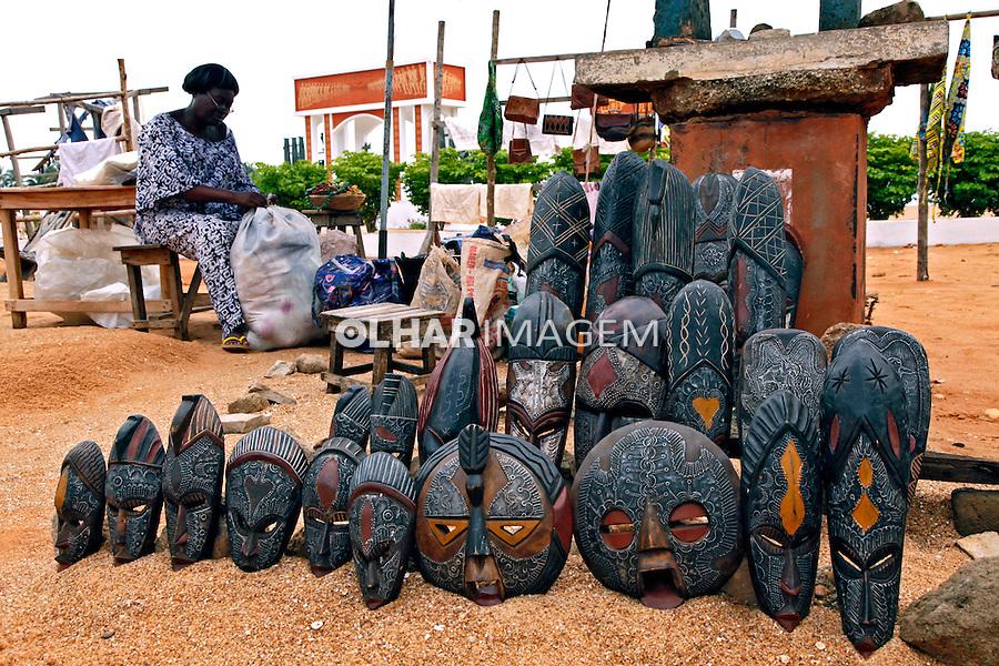 Comercio de artesanato. Ouydah. Benin. 2010. Foto de Caio Vilela.