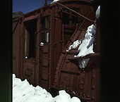 Close-up view of C&amp;TS rotary snowplow #OY's cab area.<br /> C&amp;TS  Cumbres Pass, CO