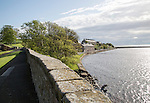Fortified defensive walls facing North Sea, Berwick-upon-Tweed, Northumberland, England, UK