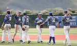 Western Nevada players celebrate a win against College of Southern Nevada in Carson City, Nev. on Friday, May 6, 2016. <br />Photo by Cathleen Allison/Nevada Photo Source