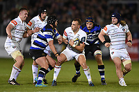 Tom Hardwick of Leicester Tigers in possession. Anglo-Welsh Cup match, between Bath Rugby and Leicester Tigers on November 10, 2017 at the Recreation Ground in Bath, England. Photo by: Patrick Khachfe / Onside Images