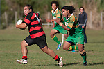 Nau Tapui gives chase as Arron Angareu makes a strong run upfield. Counties Manukau Premier Club Rugby Game of the Week between Drury & Papakura, played at Drury Domain on Saturday Aprill 11th, 2009..Drury won 35 - 3 after leading 15 - 5 at halftime.