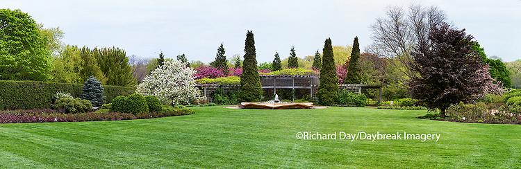 63821-22601 Peace Garden and fountain in spring, Chicago Botanic Garden, Glencoe, IL