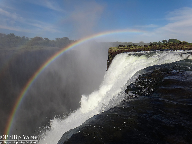 The view of Victoria Falls from Devil's Pool is breathtaking.