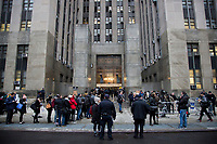 NEW YORK, NEW YORK - JANUARY 6: Exterior view of Manhattan courthouse On January 6, 2020 in New York City. Harvey Weinstein pleaded not guilty to five counts of rape and faces a possible life sentence in prison. (Photo by Pablo Monsalve / VIEWpress)
