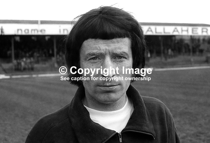 Joe Patterson, footballer, Distillery FC, Belfast, N Ireland, April, 1971, 197104000243<br /> <br /> Copyright Image from Victor Patterson, 54 Dorchester Park, Belfast, UK, BT9 6RJ<br /> <br /> t1: +44 28 9066 1296<br /> t2: +44 28 9002 2446<br /> m: +44 7802 353836<br /> e: victorpatterson@me.com<br /> <br /> www.victorpatterson.com<br /> <br /> IMPORTANT: Please see my Terms and Conditions of Use at www.victorpatterson.com