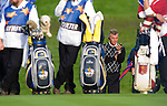 RYDER CUP 2010, CELTIC MANOR, WALES..Sunday fourballs..DARREN CLARKE WATCHES CAREFULLY..3-10-2010 PIC BY IAN MCILGORM