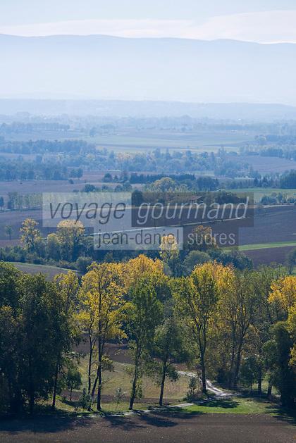 Europe/France/Midi-Pyrénées/81/Tarn/env de Lautrec:  vue sur le pays de Cocagne avec en fond la montagne noire