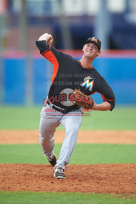 Miami Marlins pitcher Kyle Keller (85) during an Instructional League game against the New York Mets on September 29, 2016 at the Port St. Lucie Training Complex in Port St. Lucie, Florida.  (Mike Janes/Four Seam Images)