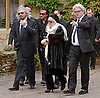 """BARRY GIBB WITH ROBIN'S SONS RJ, STEVIE AND WIDOW DWINA.ROBIN GIBB'S FUNERAL.Robin who died after a lon-running battle with cancer aged 62, was buried at St. mary's Church , Thame, Oxfordshire..Brother Barry Gibb,65, the last surviving member of the Bee Gees was joined by family members for the funeral service..Celebrity guests who attended the funeral included Peter Andre, Tim Rice, Susan George and Leslie Phillips_08/06/2012.Mandatory Credit Photo: ©NEWSPIX INTERNATIONAL..**ALL FEES PAYABLE TO: """"NEWSPIX INTERNATIONAL""""**..IMMEDIATE CONFIRMATION OF USAGE REQUIRED:.Newspix International, 31 Chinnery Hill, Bishop's Stortford, ENGLAND CM23 3PS.Tel:+441279 324672  ; Fax: +441279656877.Mobile:  07775681153.e-mail: info@newspixinternational.co.uk"""