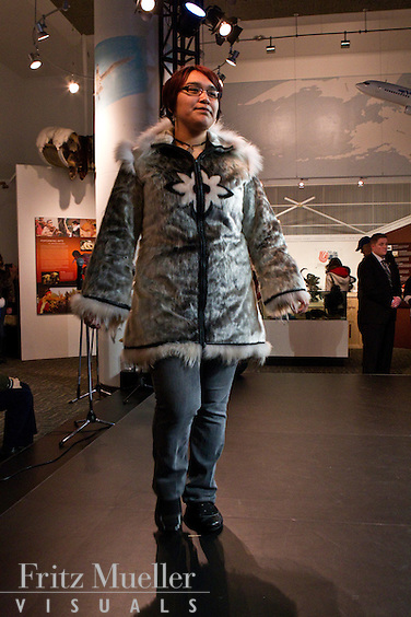 Fur fashion show on Nunavut Day at Canada's Northern House