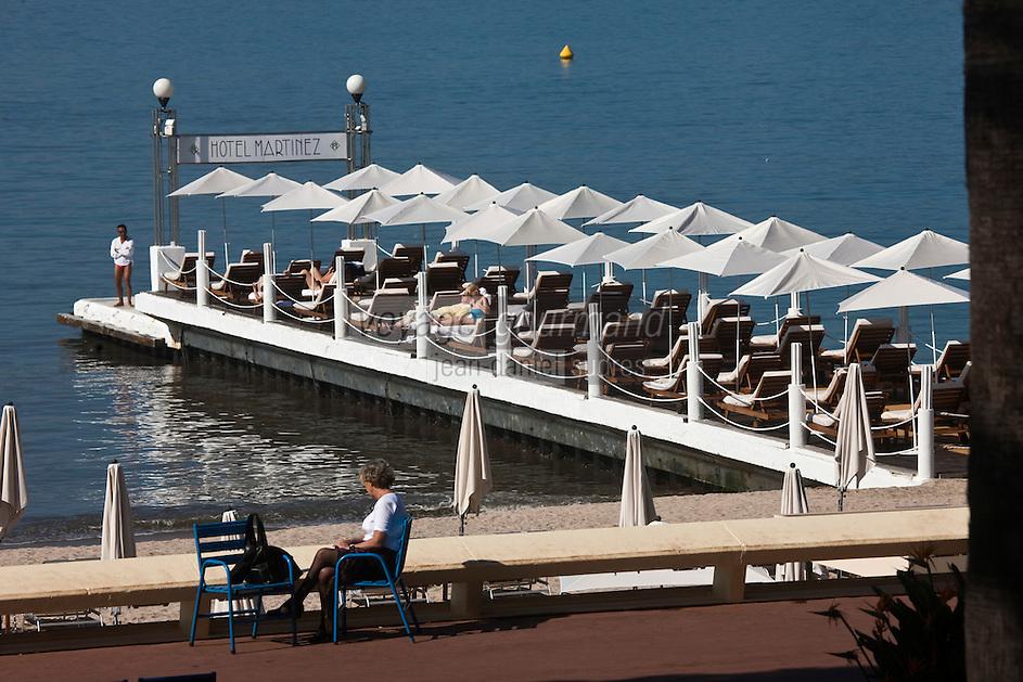 Europe/France/Provence-Alpes-Côte d'Azur/06/Alpes-Maritimes/Cannes: Plage de l' Hôtel Martinez
