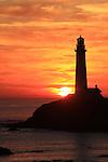 Pigeon point lighthouse sunset