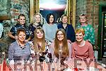 Tralee ladies enjoying a night out in Finnegans on Saturday night.<br /> Seated l-r, Linda Lowe, Gloria, Hazel and Lydia Keane.<br /> Standing l-r, Emily Keane, Georgina Hobbert, Patricia Lowe, Tina Dineen and Siobhan Keane.