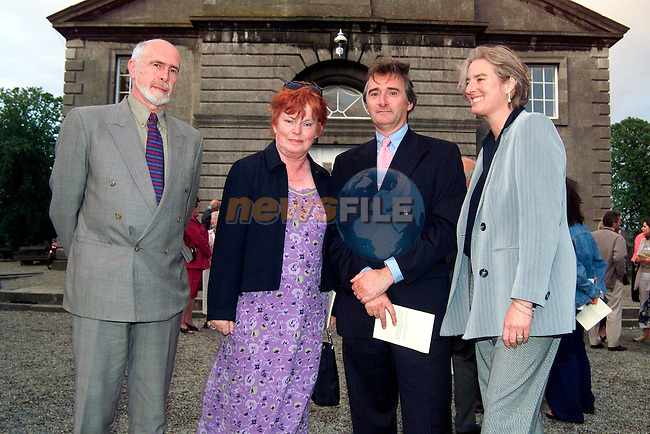 Brian and Phil Conyngham with Lord Henry Mountcharles and Lady Iona at the rededication of St. Peter's Church of Ireland..Picture: Paul Mohan/Newsfile