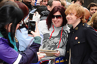 "Rupert Grint arrives for the ""Postman Pat"" premiere at the Odeon West End, Leicester Square, London. 11/05/2014 Picture by: Steve Vas / Featureflash"