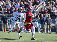 Washington, DC - March 31, 2018: Denver Pioneers Trevor Baptiste (9) runs with the ball during game between Denver and Georgetown at  Cooper Field in Washington, DC.   (Photo by Elliott Brown/Media Images International)