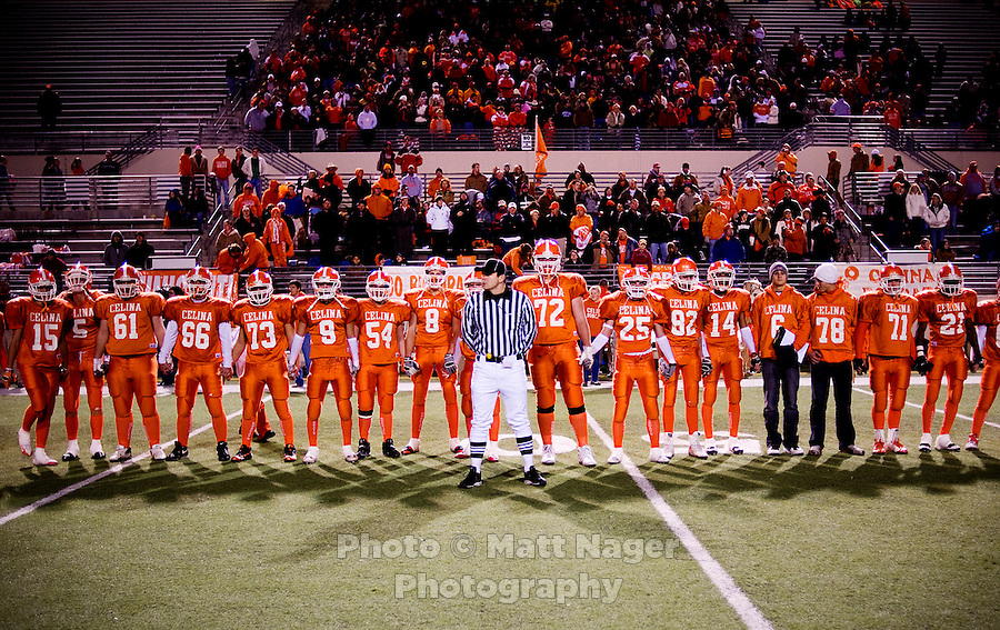 Celina High School faces Kennedale High School in 3A Division II playoff game at C.H. Collins Athletic Complex in Denton, Texas, Friday, November 21, 2008. Celina was leading 48-0 at the half...MATT NAGER/ SPECIAL CONTRIBUTOR