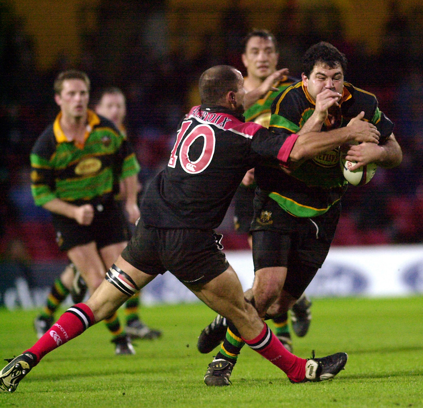 Photo:Ken Brown.17.5.2000 Saracens v Northampton.Federico Mendez