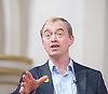 Tim Farron MP <br /> Leader of the LibDems addresses a public meeting on Brexit with Sarah Olney Liberal Democrat candidate in the Richmond Park by election at Christ Church, New Malden, Surrey, Great Britain <br /> 26th November 2016 <br /> <br /> Tim Farron <br /> <br /> <br /> presented by <br /> Ed Davey<br /> Former Secretary of State for Energy and Climate Change<br /> <br /> <br /> Photograph by Elliott Franks <br /> Image licensed to Elliott Franks Photography Services