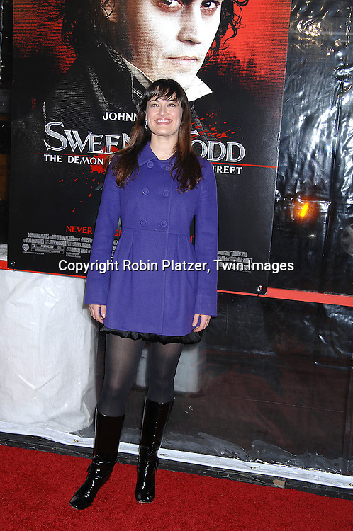 "Ashley Brown of Mary Poppins.arriving at the New York Premiere of ""Sweeney Todd"" starring Johnny Depp on December 3, 2007 at The Ziegfeld Theatre in New York City. .Robin Platzer, Twin Images"