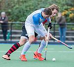 ZEIST-   Christiaan Stroboer (Hurley) met Floris Molenaar (Schaerweijde) promotieklasse hockey heren, Schaerweijde-Hurley (4-0)  COPYRIGHT KOEN SUYK