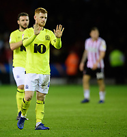 Blackburn Rovers' Harrison Reed at the end of the game<br /> <br /> Photographer Chris Vaughan/CameraSport<br /> <br /> The EFL Sky Bet Championship - Sheffield United v Blackburn Rovers - Saturday 29th December 2018 - Bramall Lane - Sheffield<br /> <br /> World Copyright &copy; 2018 CameraSport. All rights reserved. 43 Linden Ave. Countesthorpe. Leicester. England. LE8 5PG - Tel: +44 (0) 116 277 4147 - admin@camerasport.com - www.camerasport.com