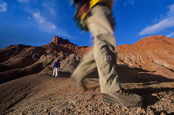 Hiking in badlands near Pahreah, Grand Staircase-Escalante National Monument, Kanab, Utah, AGPix_0176.