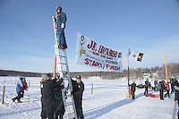 Saturday February 25, 2012   at Knik Lake during the Junior Iditarod start.