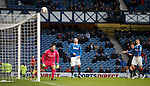 Kris Boyd misses with a free header on goal